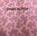 Non woven Metallic Printed Fabric P136