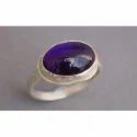 Handmade Sterling 92.5 Silver Ring Amethyst Gemstone