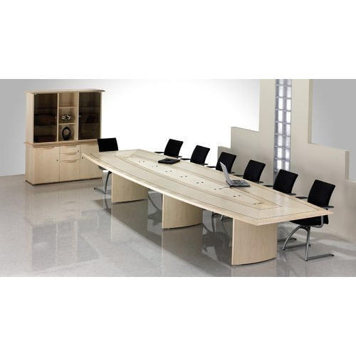 Rectangular Modern Office Conference Table With Storage Unit Rs - Conference table with storage