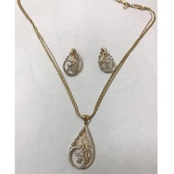 Simple Diamond Pendant Set