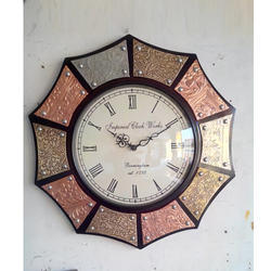 Ashtcone Wooden Wall Clock Multi Color