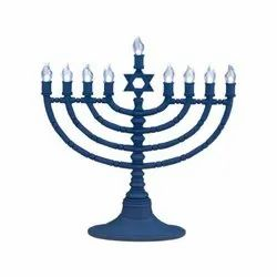 Religious Judaica Menorah Candle Holder