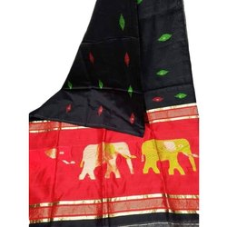 KLIS Festive Wear Handloom Jamdani Silk Saree, 6.3 m (with blouse piece)