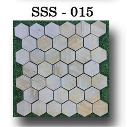 Stone SSS 015 Hive Mosaic Tile, Thickness: 10 mm, Size: 25 X 25 Mm