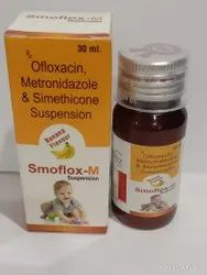 Ofloxacin 50mg   Metronidazole120mg Simethicone 10mg Suspension