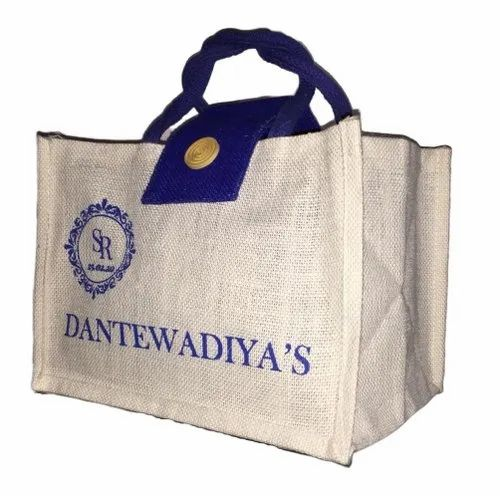 Multicolor Printed Custom Jute Bag, Capacity: 10kg