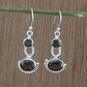 Brown Wedding Smoky Gemstone 925 Sterling Silver Unique Jewelry Earring