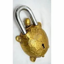 Brass Vintage Tortoise Door Lock