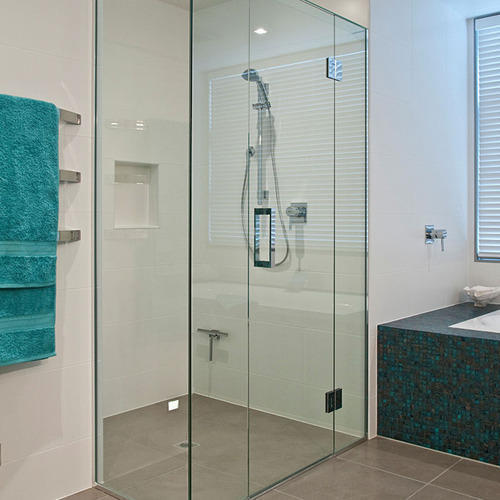 V Groove Bathroom Glass Door, Designer Glass Door, Fancy Glass Door ...