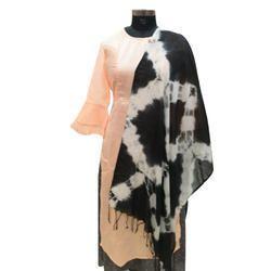 Black White Tie Dye Dupatta