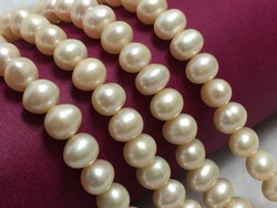Freshwater Pearl Near Round Shape Off White Color Beads Size 7.5-8 Mm Pearl Strand