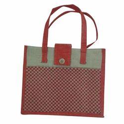 Red Printed Jute Bag