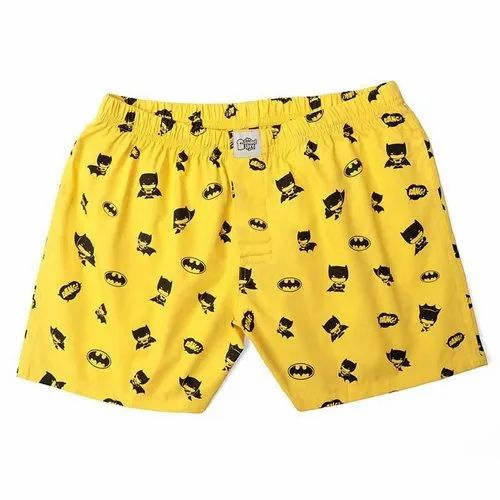 Yellow Printed Boxer Shorts