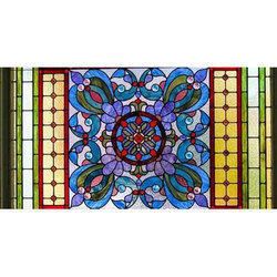 Multicolored 6 Feet X 3 Feet Art Glass