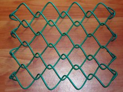 Green PVC Coated Chain Link Fence, For Fencing, Size: Mesh Size 1 To 4