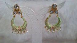 JAIPURI CHAND BALI  Earrings