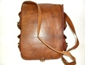 Vintage Leather Multi Pockets Flap Closure Messenger Bag