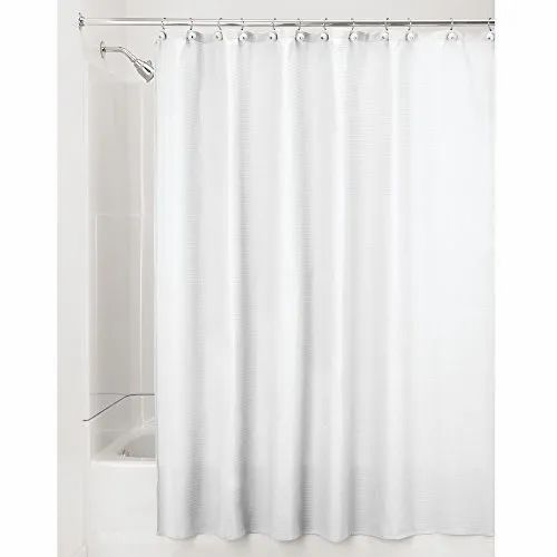 Linens Limited Plain Polyester Shower Curtain Black