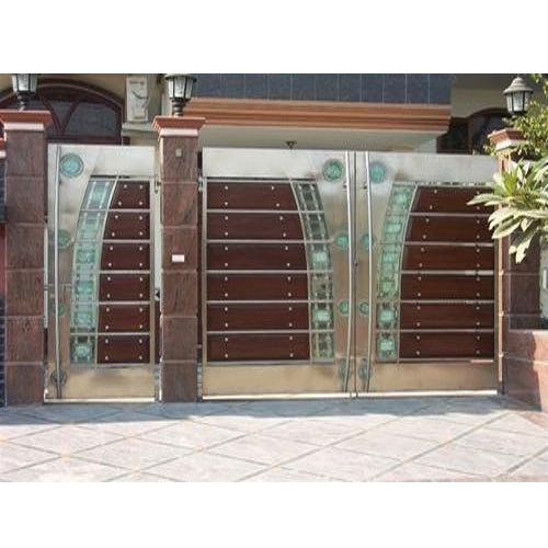 Stainless Steel Modern House Gate Designs: Stainless Steel Gate At Rs 950 /squarefeet