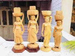 Natural Wood wooden Handicraft Staue