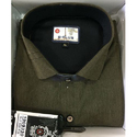 B Plus Plain Green Formal Shirt