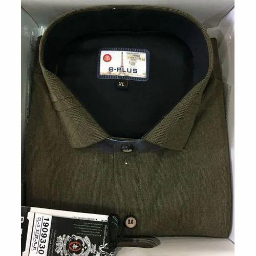0cef2243240 B Plus Plain Green Formal Shirt