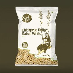 Aaha Impex Thyme Chickpeas Dollar Kabuli White, Packaging Size: 1 Kg, Packaging Type: Packets