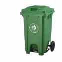Green 80l Plastic Garbage Bin