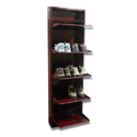 10 Pairs SS Wall Mounted Shoe Rack