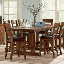 B-Brown Arts Wooden Modern Dinning Table, 8 Chair Set
