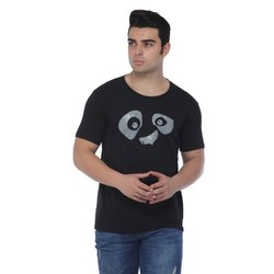 Half Sleeves Cotton/Linen Mens Printed Cotton T Shirt, Size: S- XXL