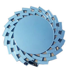 Designer Blue Glass Mirror