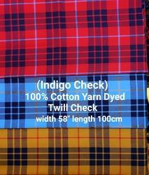 Yarn Dyed Twill Check (Indigo Check)