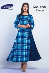 Designer Blue Print Kurti