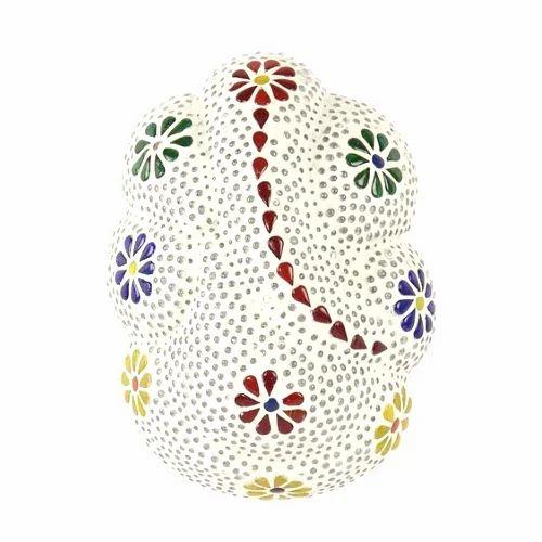 Wall Mounted Ganpati Shaped Mosaic Glass Wall Lamp