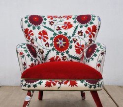 Wooden(Frame) Printed Designer Sofa Chair, For Home, Back Style: Tight Back