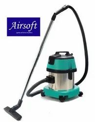 Stainless Steel Airsoft 15 Ltrs Vacuum Cleaner Wet And Dry, 1000 W, Size/Dimension: 430 X 430 X 610 Mm