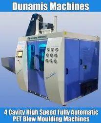 High Speed 4 Cavity PET Blowing Molding Machine