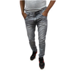 Mens Crown Warriors Casual Wear Denim Grey Jeans, Size: 30 - 38