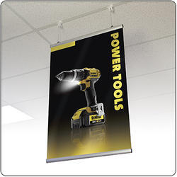 Aluminum Rectangle Wall Hanging Banner, For Advertisements