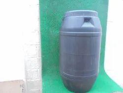 Black Polybarrel 225 Litre Barrel