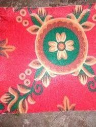Rectangular Red Printed Tent Carpet