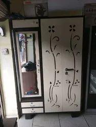 Double Door With Locker Iron Almira