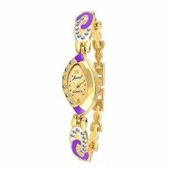 Jainx Golden Dial Analog Watch for Women's JW554