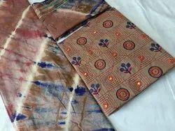 Satin Casual Wear Ladies Designer Embroidered Suit