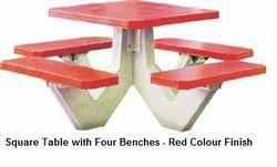 Modern Concrete RCC Bench, Without Backrest
