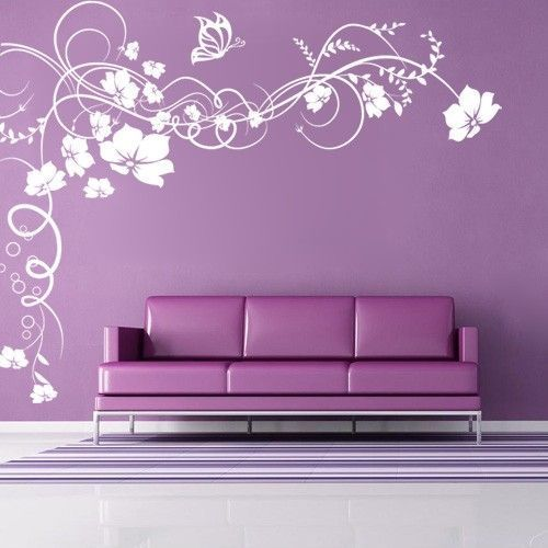 pvc vinyl floral wall sticker, rs 200 /piece, wall & window | id