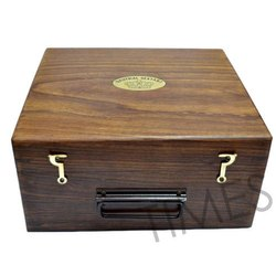 Brown Antique Nautical Wooden Box