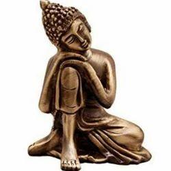 Brass Golden Buddha Statue