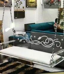 Acrylic Swing with Cushion
